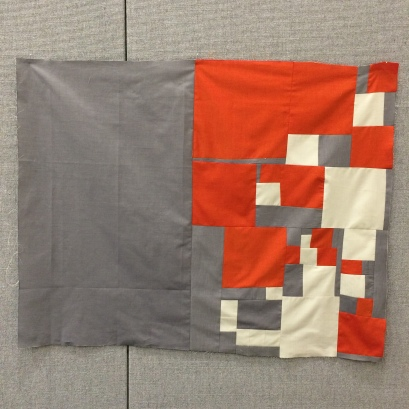 Floating Squares Improv by Karen Aalders (technique by S.L. Wood)