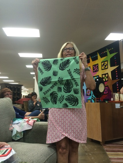 QuiltCon class Block printing by Monica
