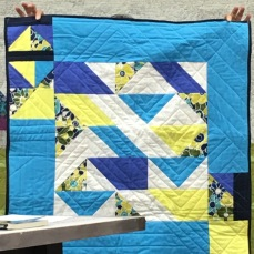 Helene did this quilt as a personal challenge