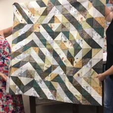 Lucinda gave this quilt made from vintage fabrics a modern aesthetic