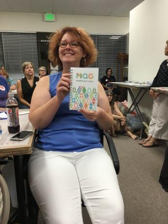 Shelly wins a MQG Notebook