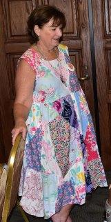 Themed dress. Love it Susie.