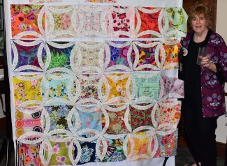 Completed quilt top from Block Lotto blocks!